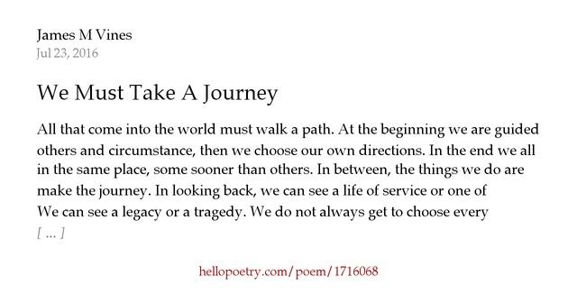 Journey Poems - Poems For Journey - - Poem by | Poem Hunter