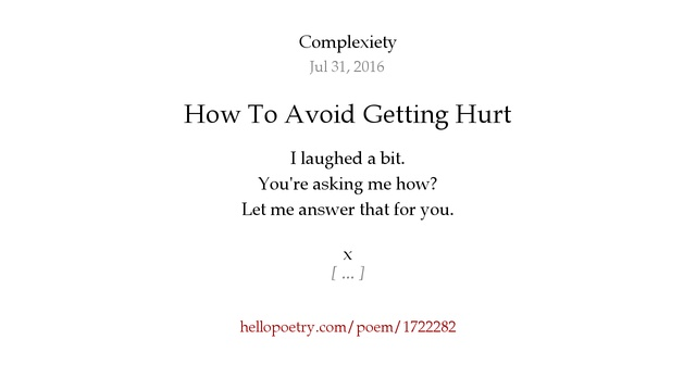 how to avoid getting hurt when dating How do you deal with heartache the pain of the breakup by rebounding and dating someone before i annoyances prevent me from actively feeling pain.