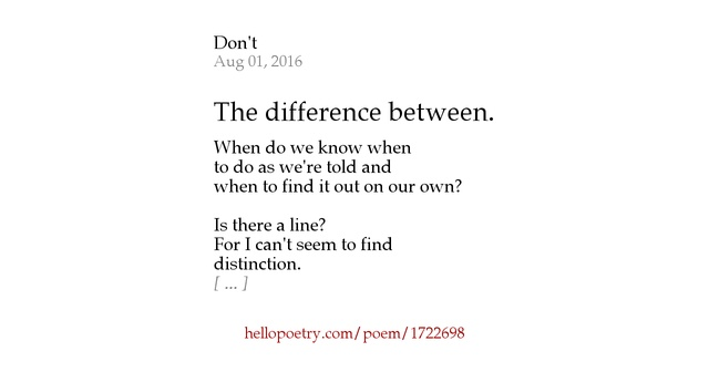 poetry contrast between poems This is one of the classic examples to learn the differences between the two  words matthew loved poetry (that is he loved poems as a whole), and this is the.