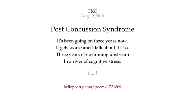 post concussion syndrome by tko - hello poetry, Skeleton