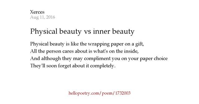 Physical Beauty Vs Inner By Haley C B