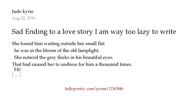 love story essay sad
