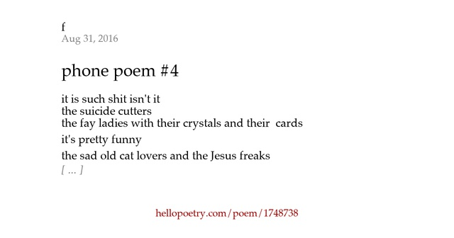 Pictures with poems on the phone