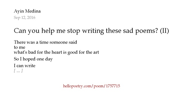 help on writing a poem