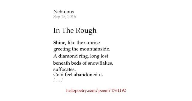 diamond in the rough poem - photo #19