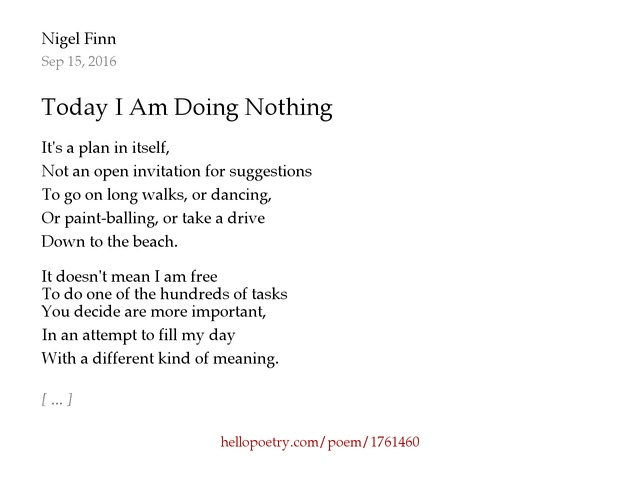 Invitation is open meaning choice image invitation sample and today i am doing nothing by nigel finn hello poetry stopboris choice image stopboris Gallery