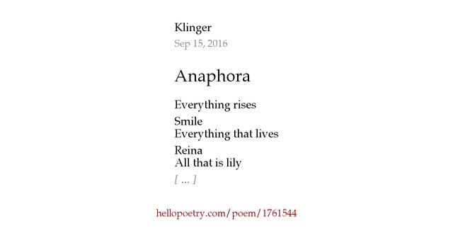 Anaphora by Kli...