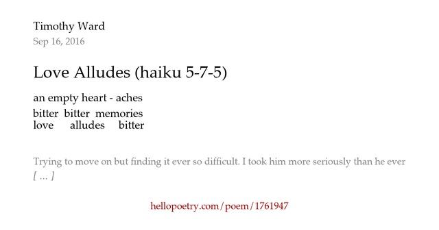 haiku poems about love 5 7 5 - photo #7
