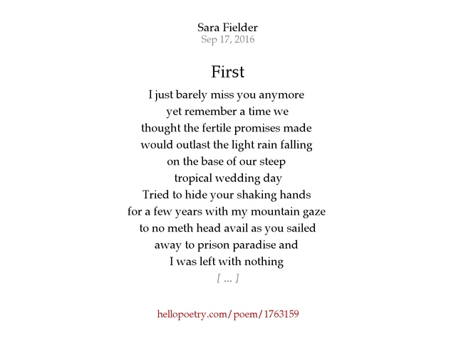 First By Sara Fielder