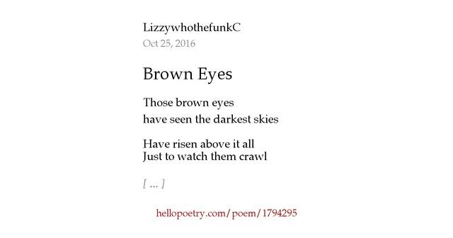 Brown eyes poem