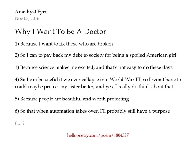why want doctor