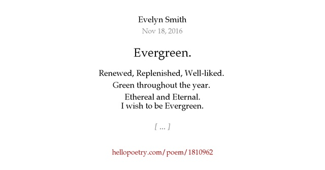 the evergreen poetry Gmail is email that's intuitive, efficient, and useful 15 gb of storage, less spam, and mobile access.