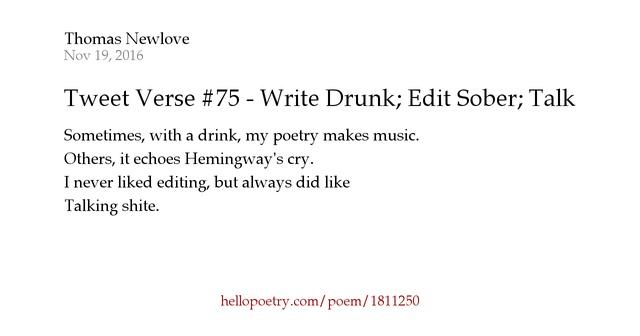 Did hemingway write drunk