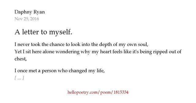 a letter to myself poem a letter to myself by hello poetry 23991 | fb