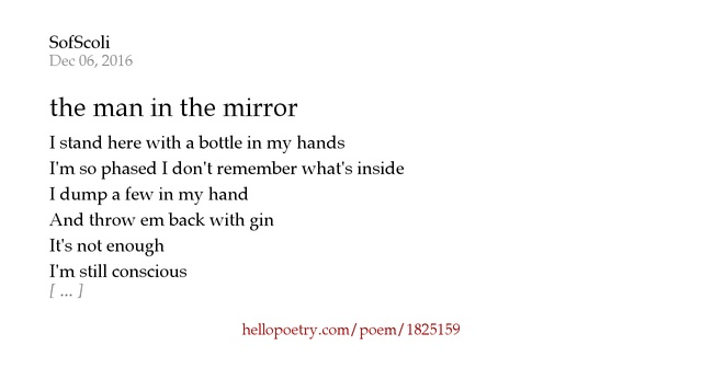 The Man In The Mirror By Sofscoli Hello Poetry