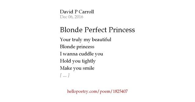 Blonde Poems 90