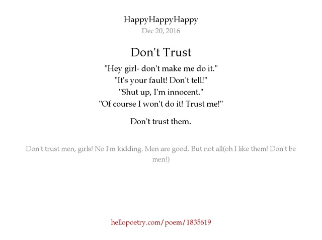 Don T Trust Me Girl