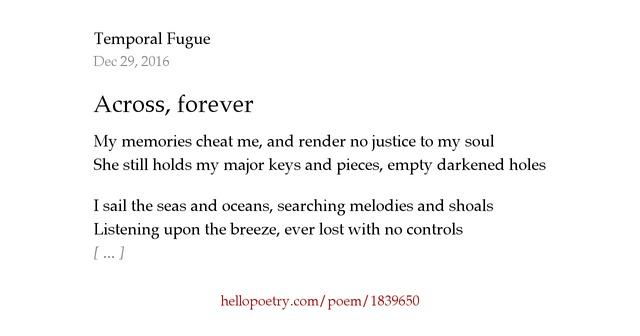 How to write a fugue poem