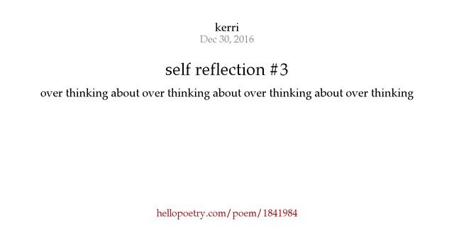 self reflection 3 by kerri   hello poetry