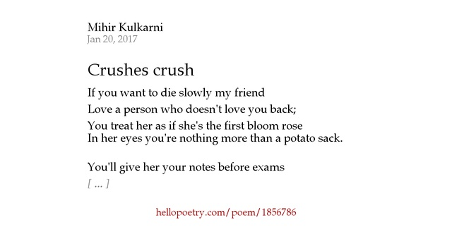 a poem to your crush