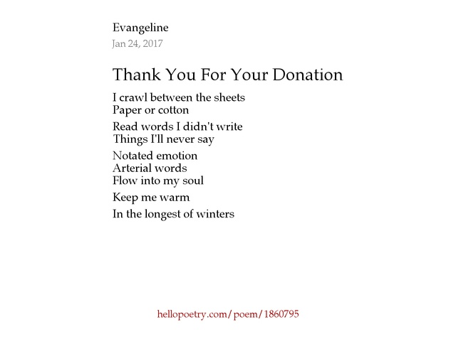 thank you for donation