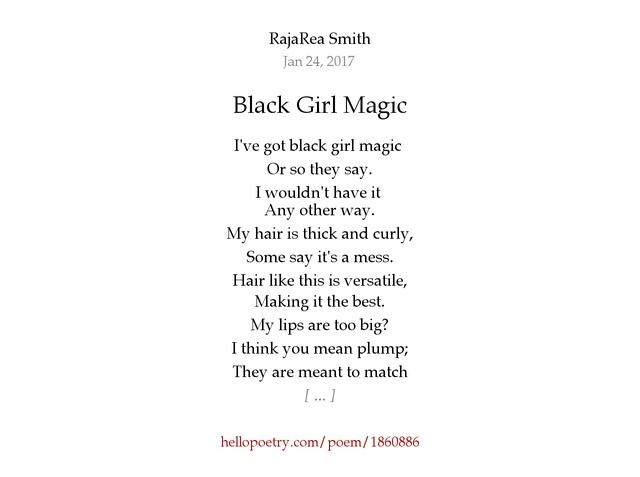 Black Girl Magic by RajaRea Smith - Hello Poetry