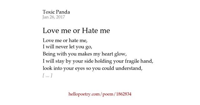 Love Me Hate Me Poems