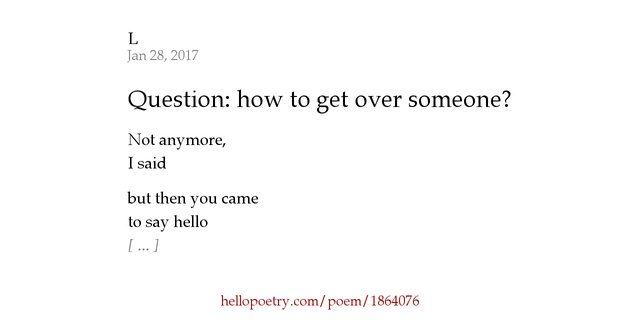 "poetry explication of getting through Dispel the notion that reading poetry is going to dramatically change your  if you  have to ""relate"" to a poem in order to understand it, you aren't."