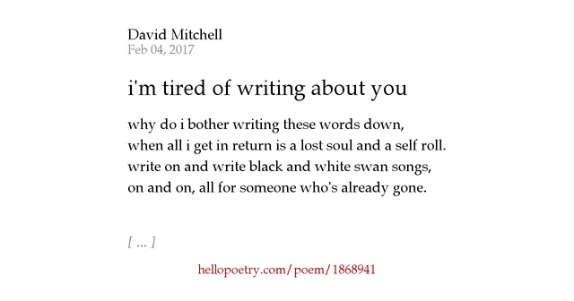 writing about you