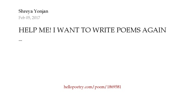 Help in writing poems