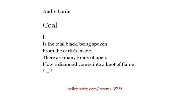 coal audre lorde essay