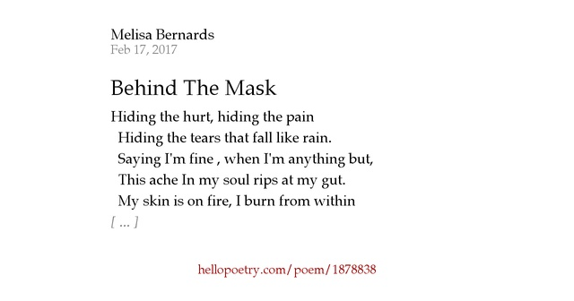 Poem About Wearing A Mask That Always Smiles, Mask |Hiding Behind The Mask Poem