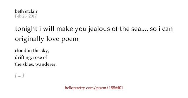 jealous love poems - photo #28