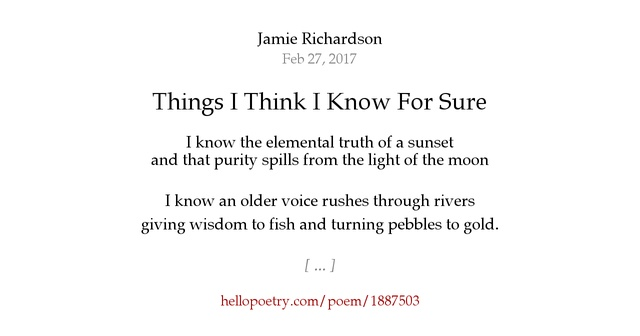things i know a poem Arts administrator and poet jonathan katz (nasaa's ceo) ruminates on what he's learned from poetry.