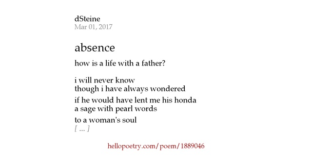 absence poem On quitting school is a sonnet written by samuel taylor coleridge in 1791 it  describes coleridge's feelings of leaving school for cambridge in an optimistic  manner quite contrary to the views he expressed later in life contents 1  background 2 poem 21 absence  another poem titled absence: a farewell  ode on quitting school for jesus.