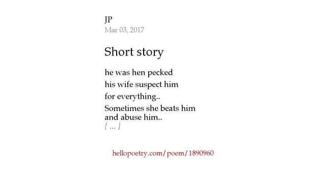 Short Story By Jp Hello Poetry