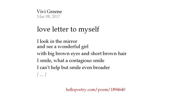 a letter to myself poem letter to myself by vivi greene hello poetry 23991 | fb