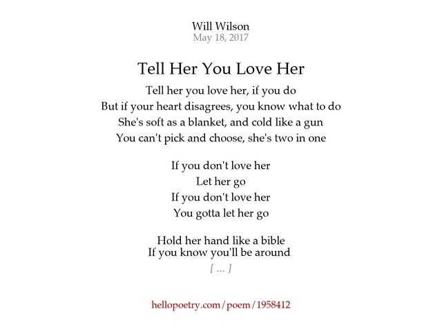 Poems To Tell Her You Love Her