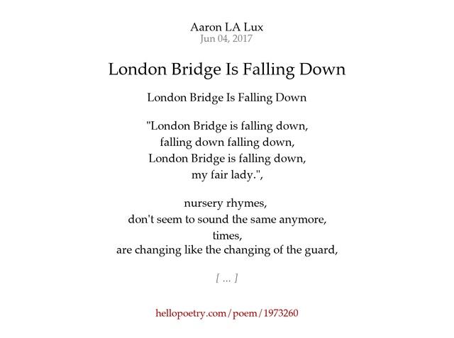 London Bridge Nursery Rhyme Lyrics - Best Image Dinaris.Org