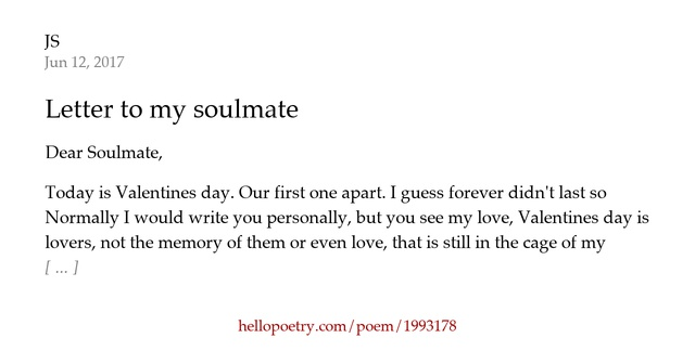 letter to my soulmate letter to my soulmate by js hello poetry 143