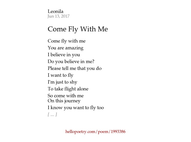 Come With Me Poem