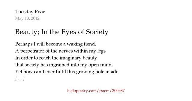 Beauty in society essay