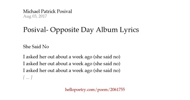 antithesis in lyrics A list of lyrics, artists and songs that contain the term antithesis - from the lyricscom website.