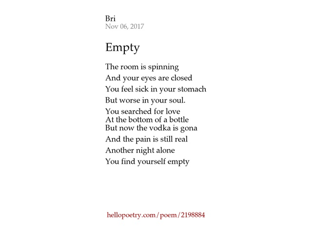 Empty by bri hello poetry thecheapjerseys Image collections