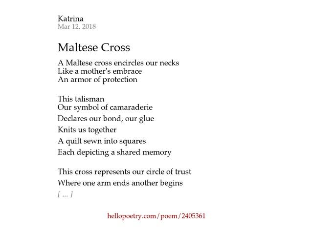 cross poem