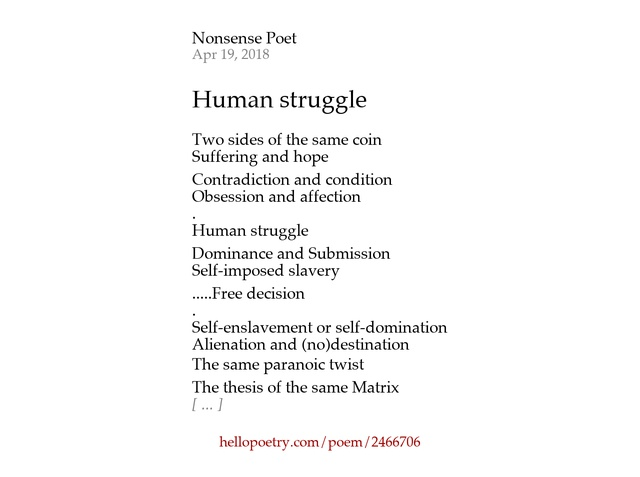 Domination of two poem