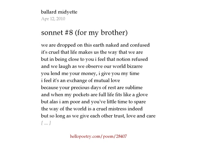 the sonnet ballard