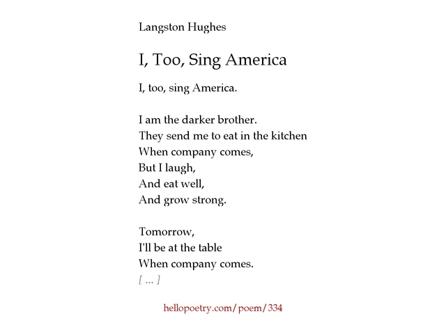 an overview of the poems by langston hughes