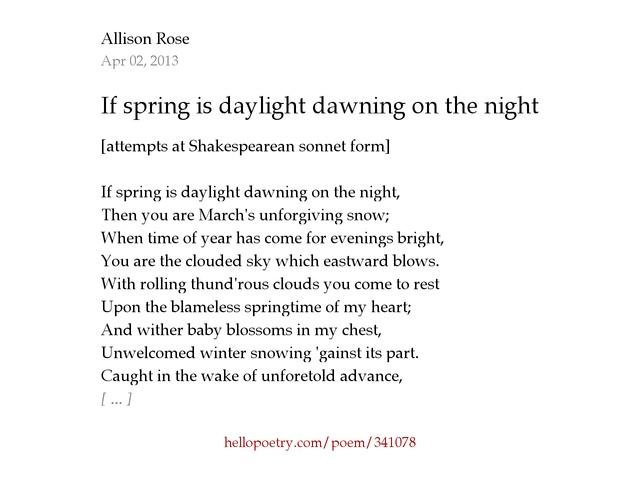 shakespeare rose sonnet