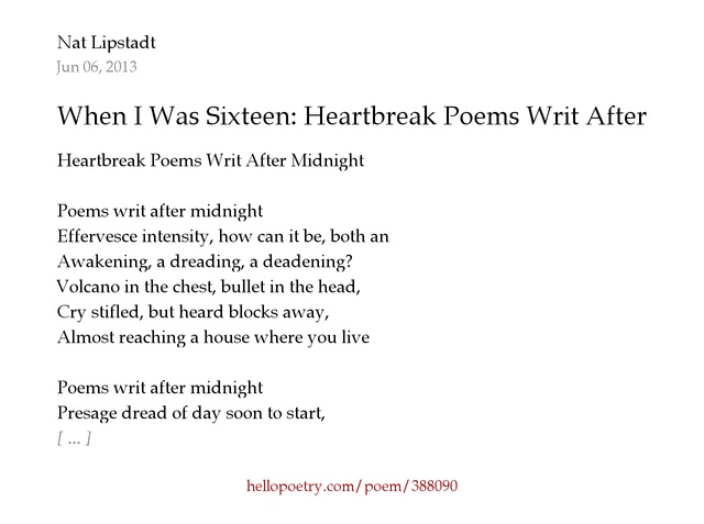 being sixteen poem